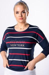 T-shirt Ptak Moda z tkaniny w stylu casual