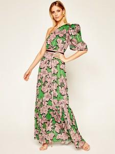 Sukienka Silvian Heach maxi w stylu boho z krótkim rękawem