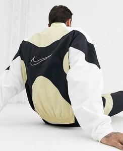 Złota bluza Nike z nadrukiem z dresówki