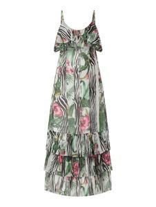 Sukienka Guess maxi z szyfonu z dekoltem w kształcie litery v