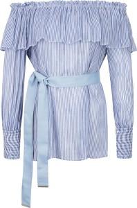 Niebieska bluzka Pinko z długim rękawem