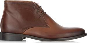 Brązowe buty zimowe Ochnik sznurowane