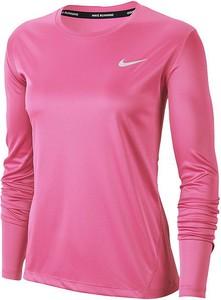 Bluzka Nike z okrągłym dekoltem w sportowym stylu z długim rękawem