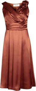 Brązowa sukienka Fokus midi