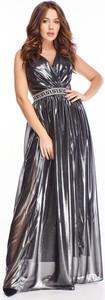 Sukienka Ptakmoda.com maxi z dekoltem w kształcie litery v na ramiączkach