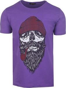 T-shirt Neidio w młodzieżowym stylu z nadrukiem z dresówki