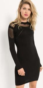 Czarna sukienka ORSAY w stylu casual z dzianiny dopasowana