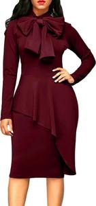 Elegrina midi sukienka jaliya burgund