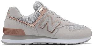 Buty sportowe New Balance ze skóry sznurowane z płaską podeszwą