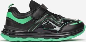 Czarne buty sportowe born2be sznurowane z płaską podeszwą