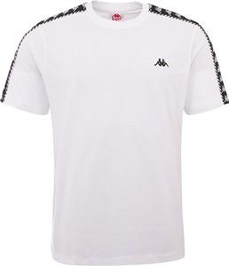T-shirt Kappa z bawełny z krótkim rękawem w sportowym stylu