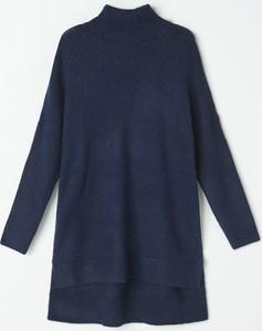 Granatowy sweter Mohito w stylu casual