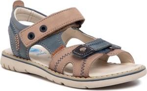 Brązowe buty dziecięce letnie Lasocki Kids na rzepy