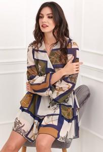 Sukienka Fasardi z dekoltem w kształcie litery v mini
