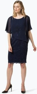 Sukienka Swing z okrągłym dekoltem z szyfonu midi