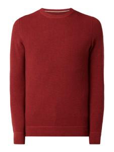 Czerwony sweter McNeal z bawełny