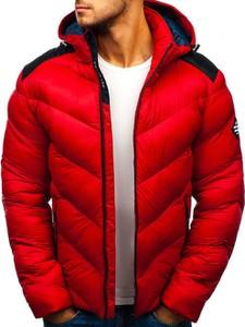 Czerwona kurtka Denley w stylu casual