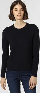 Granatowy sweter Franco Callegari w stylu casual z dzianiny