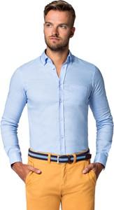 Niebieska koszula LANCERTO z klasycznym kołnierzykiem