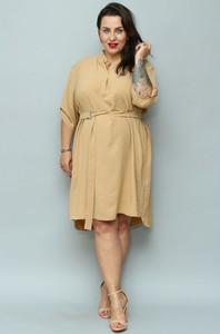 Sukienka KARKO z tkaniny asymetryczna midi