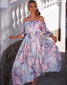 Sukienka Emo hiszpanka z odkrytymi ramionami maxi