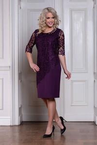 Fioletowa sukienka Roxana - sukienki z długim rękawem