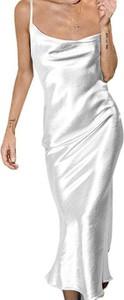 Sukienka Cikelly prosta na ramiączkach z dekoltem w kształcie litery v