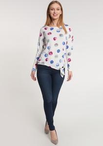 Bluzka QUIOSQUE z okrągłym dekoltem w stylu casual