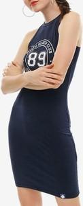 Sukienka Superdry mini z okrągłym dekoltem na ramiączkach