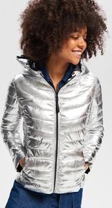 Srebrna kurtka Reserved krótka w stylu casual