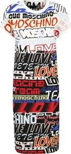 Sukienka Love Moschino prosta w stylu casual