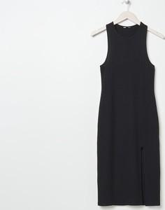 Czarna sukienka Sinsay midi bez rękawów
