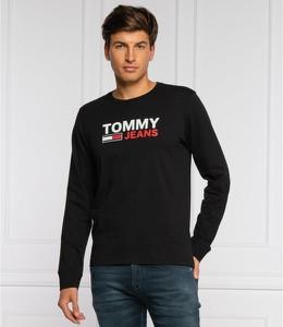 Koszulka z długim rękawem Tommy Jeans z bawełny w młodzieżowym stylu z długim rękawem