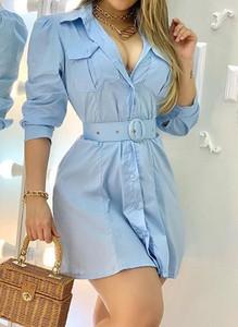 Sukienka Arilook koszulowa w stylu casual mini