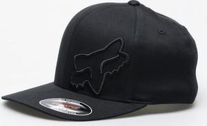 Czarna czapka Fox z nadrukiem