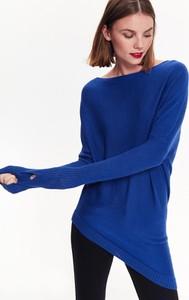 Niebieski sweter Top Secret z dzianiny w stylu casual