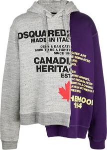 Fioletowa bluza Dsquared2 w młodzieżowym stylu