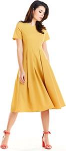 Żółta sukienka Awama midi