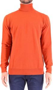 Sweter Kangra z golfem z wełny w stylu casual