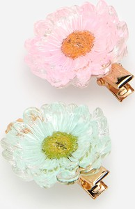 Reserved - Zestaw 2 spinek do włosów z kwiatami - Różowy