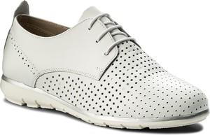Półbuty tamaris - 1-23622-20 white/silver 191