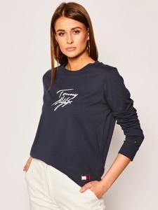 T-shirt Tommy Hilfiger z długim rękawem z okrągłym dekoltem