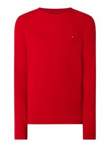 Czerwony sweter Tommy Hilfiger z bawełny w stylu casual