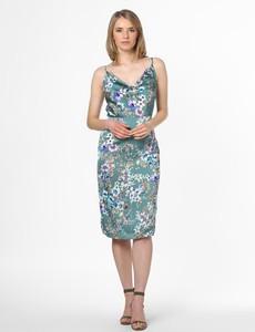 Sukienka Vila na ramiączkach z dekoltem woda midi