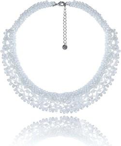 POLSKA Dekoracyjny ślubny naszyjnik w stylu Glamour biały
