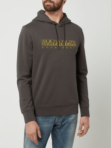 Bluza Napapijri z nadrukiem z bawełny