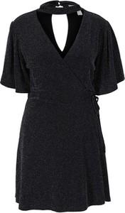 Czarna bluzka Heine z dekoltem w kształcie litery v