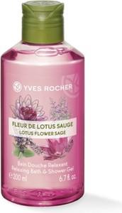 Yves Rocher Relaksujący żel pod prysznic i do kąpieli Kwiat Lotosu & Szałwia