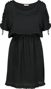 Sukienka Twinset z okrągłym dekoltem w stylu casual z jedwabiu
