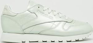 Miętowe buty sportowe Reebok Classic ze skóry